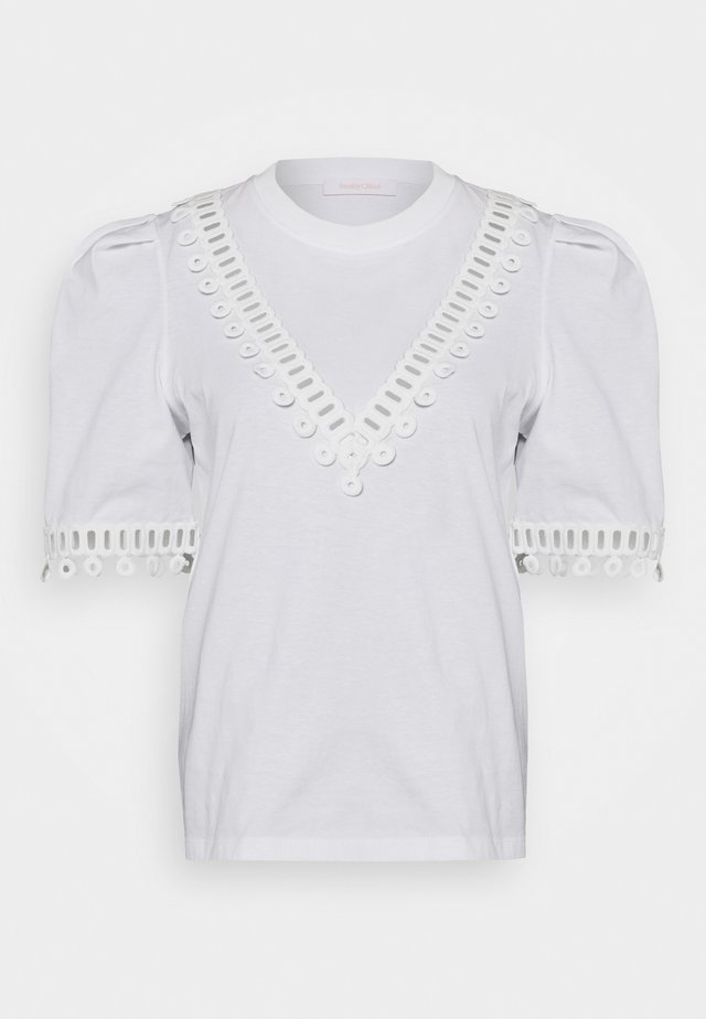 T-shirt med print - white powder