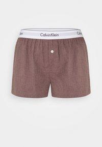 Calvin Klein Underwear - SLEEP SHORT - Pyjama bottoms - plum dust heather - 0