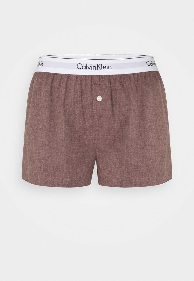 SLEEP SHORT - Pantaloni del pigiama - plum dust heather