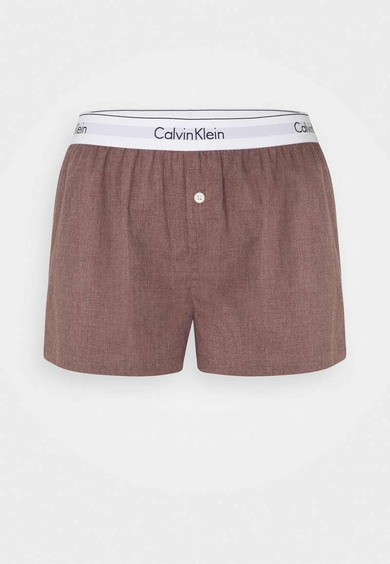Calvin Klein Underwear - SLEEP SHORT - Pyjama bottoms - plum dust heather