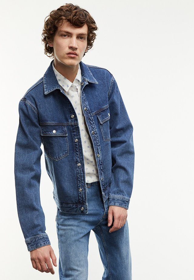 Kurtka jeansowa - bleu indigo