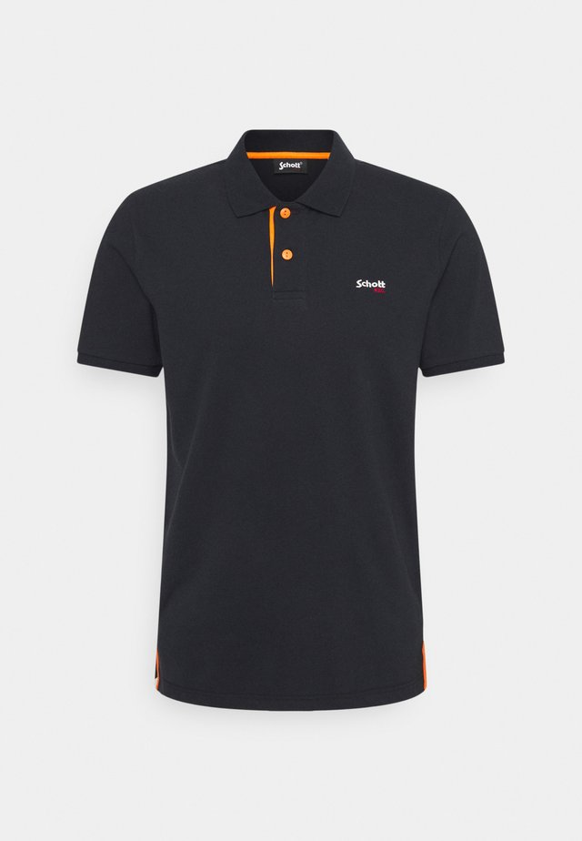 PSMILTON - Polo - navy/orange