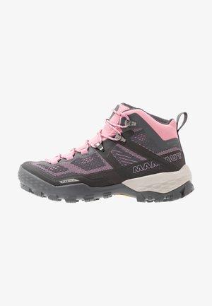 DUCAN MID GTX WOMEN - Hiking shoes - dark titanium/dark orchid