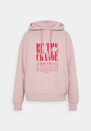 BE THE CHANGE PRINT OVERSIZED HOODIE - Sudadera - light pink