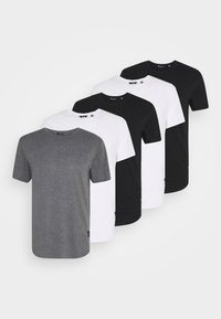 white/black/dark grey melange