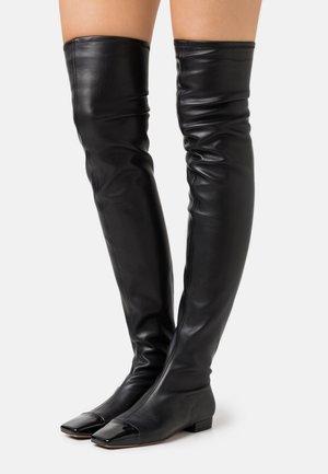 STRETCH BOOT - Kozačky nad kolena - black
