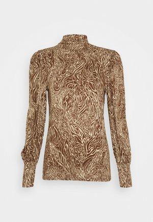 ONLAMINA - Long sleeved top - beige/brown animal