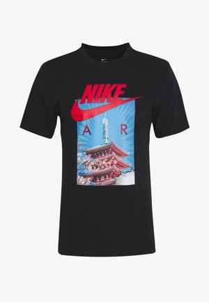 AIR PHOTO TEE - T-Shirt print - black