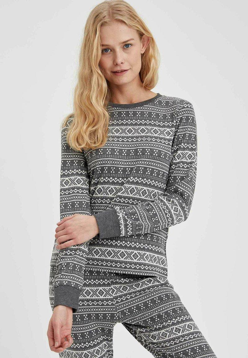 DeFacto - Pyjama top - anthracite