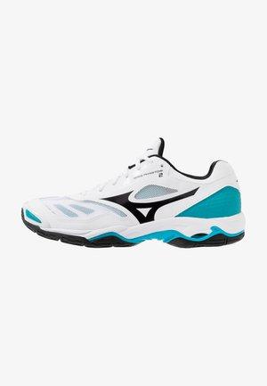 WAVE PHANTOM 2 - Handball shoes - white/black/enamel blue