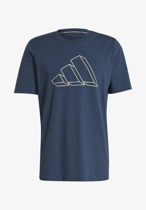 M FI GFX TEE - Camiseta estampada - dark blue