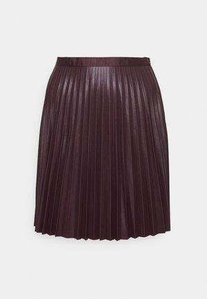 VIAMINA SHORT COATED SKIRT - Mini skirt - winetasting