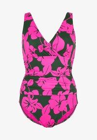 Boden - TALAMANCA - Swimsuit - palmblattgrün, üppige blüten - 4