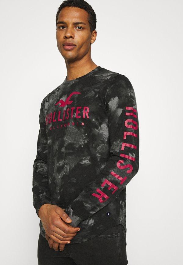 Hollister Co. ICONIC - Bluzka z długim rękawem - black wash/czarny Odzież Męska BNIM