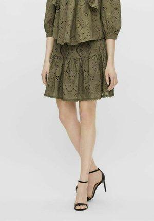 YASTARA - A-line skirt - military olive