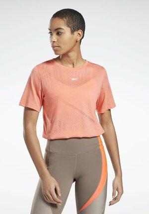 BURNOUT T-SHIRT - Print T-shirt - red