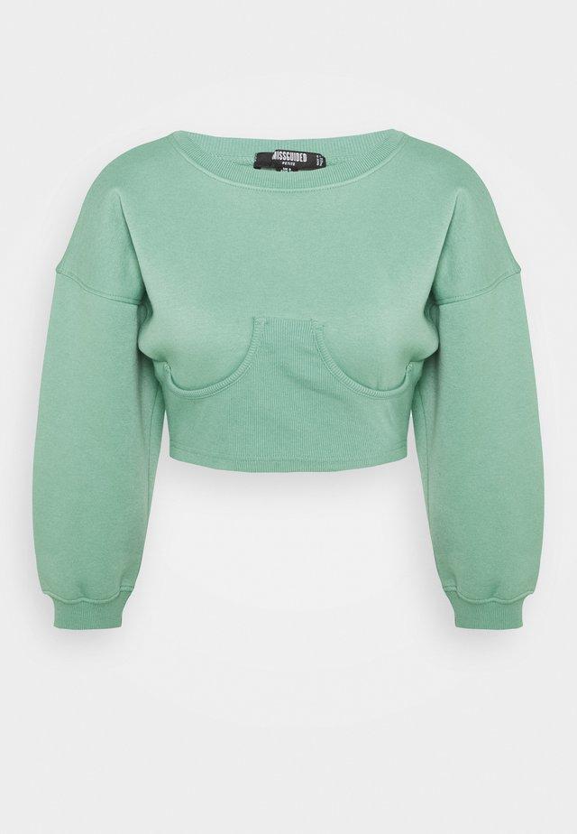CORSET DETAIL - Sweatshirt - jade