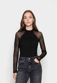 Even&Odd - BODYSUIT - Long sleeved top - black - 0