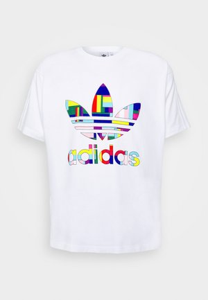 SPORTS INSPIRED SHORT SLEEVE TEE - T-shirts print - white/multi-coloured