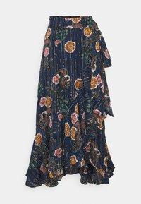 Scotch & Soda - PRINTED WRAP SKIRT IN SHEER STRIPE - Áčková sukně - blue - 0