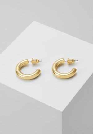 MINI CHUNKY HOOP EARRINGS - Earrings - pale gold-coloured