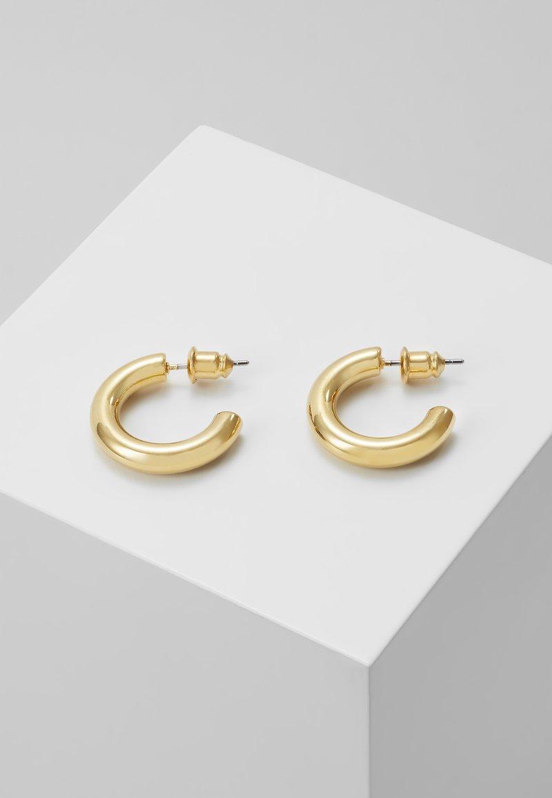 Orelia - MINI CHUNKY HOOP EARRINGS - Øredobber - pale gold-coloured