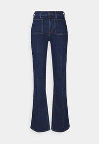 RYNNE WASH - Flared Jeans - dark indigo