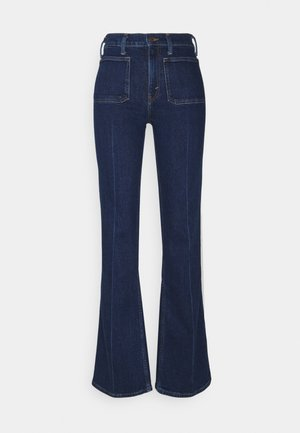 RYNNE WASH - Flared Jeans - dark indigo