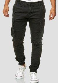 INDICODE JEANS - ALEX - Cargo trousers - black - 3