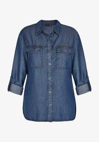 TR - Button-down blouse - blue denim - 0