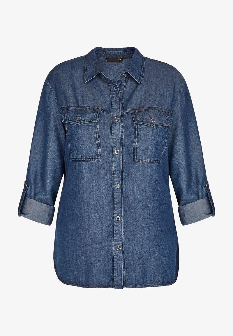 TR - Button-down blouse - blue denim
