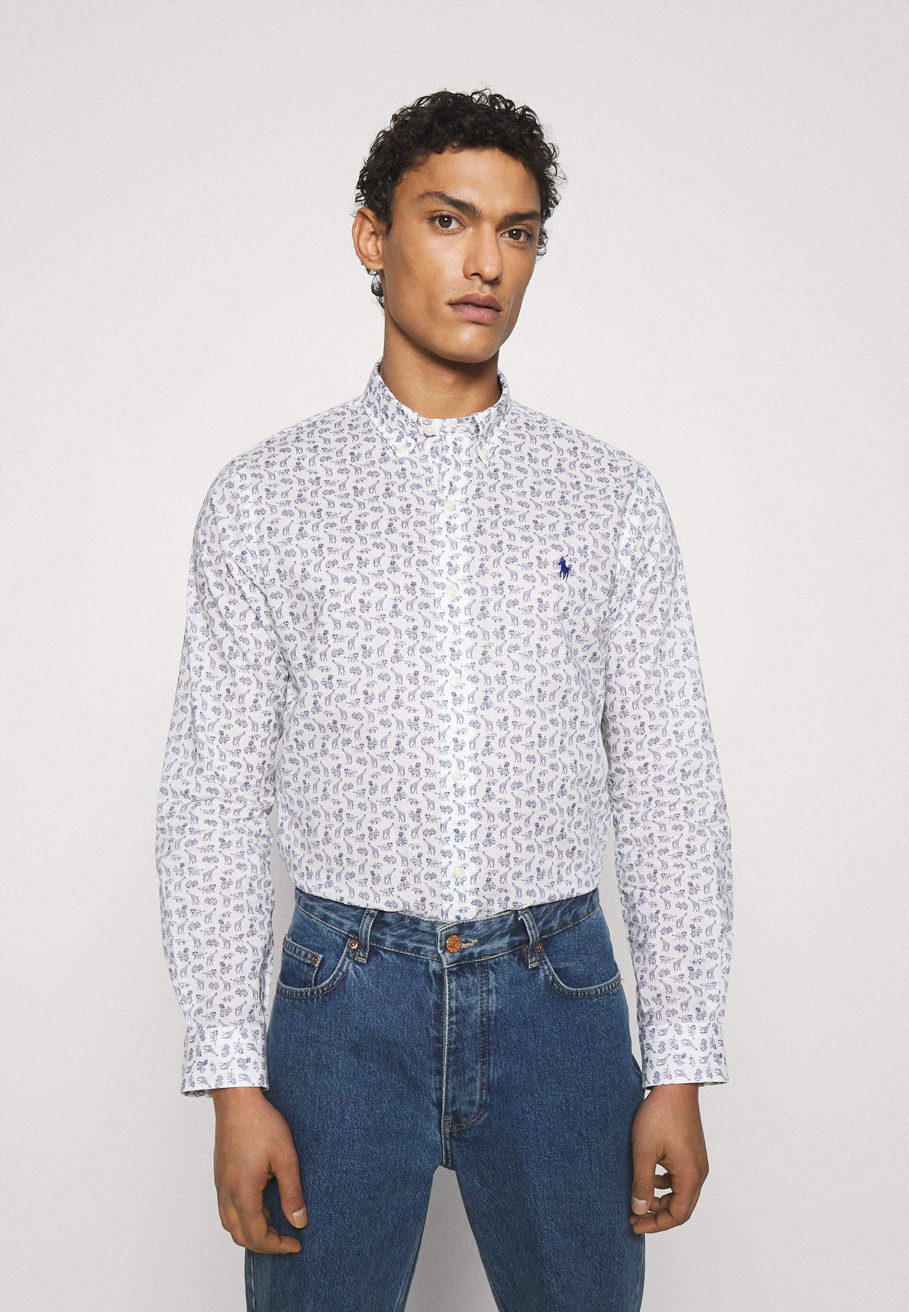 Uomo SLIM FIT ARROW-PRINT POPLIN SHIRT - Camicia