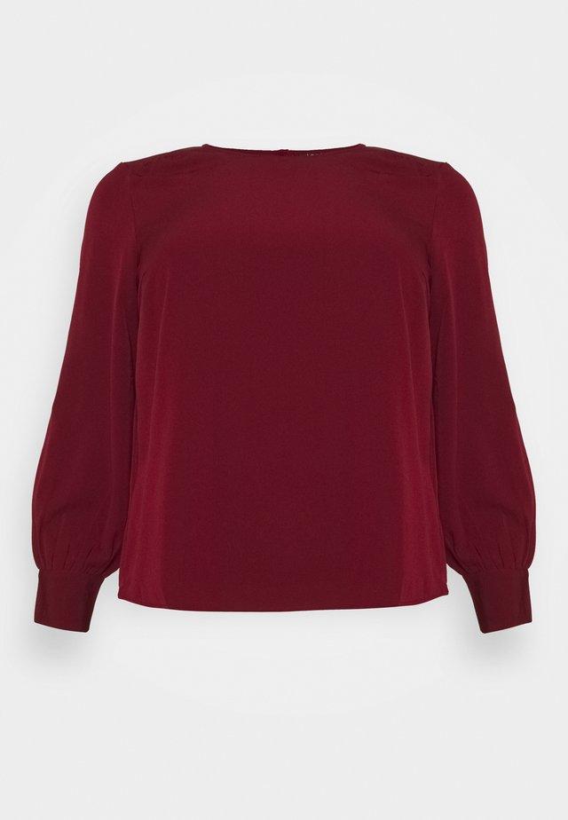 VMGABRINA - T-shirt à manches longues - cabernet
