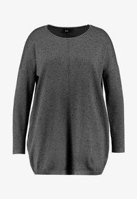 Zizzi - MOLYMPIA - Stickad tröja - dark grey melange - 4