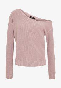 Even&Odd - BASIC-OFF SHOULDER - Sweter - rose - 3