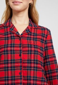 Benetton - DYED CHECK FRONT OPENING SET - Pigiama - red tartan - 6