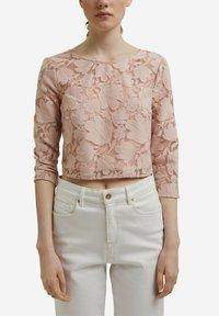 Esprit Collection - LACE SHIRT - Print T-shirt - nude - 4