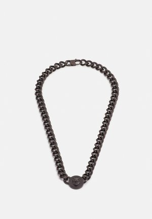 LION COIN CHAIN NECKLACE UNISEX - Collar - gunmetal
