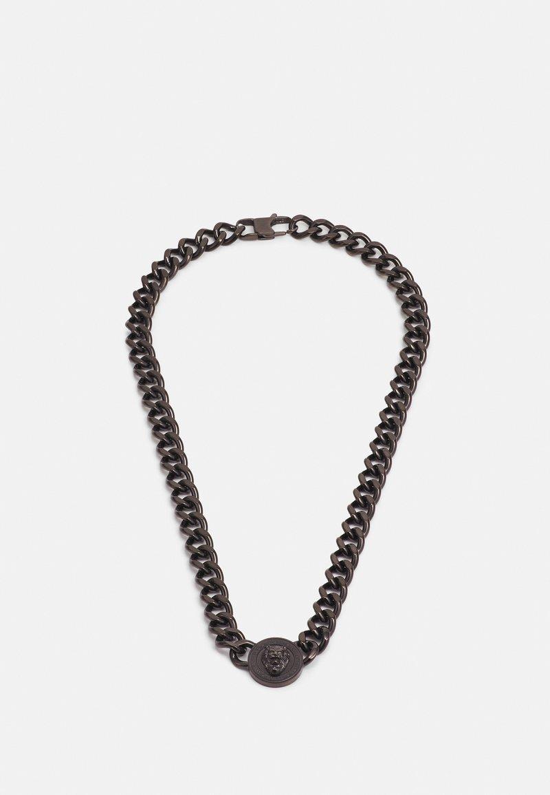 Guess - LION COIN CHAIN NECKLACE UNISEX - Necklace - gunmetal