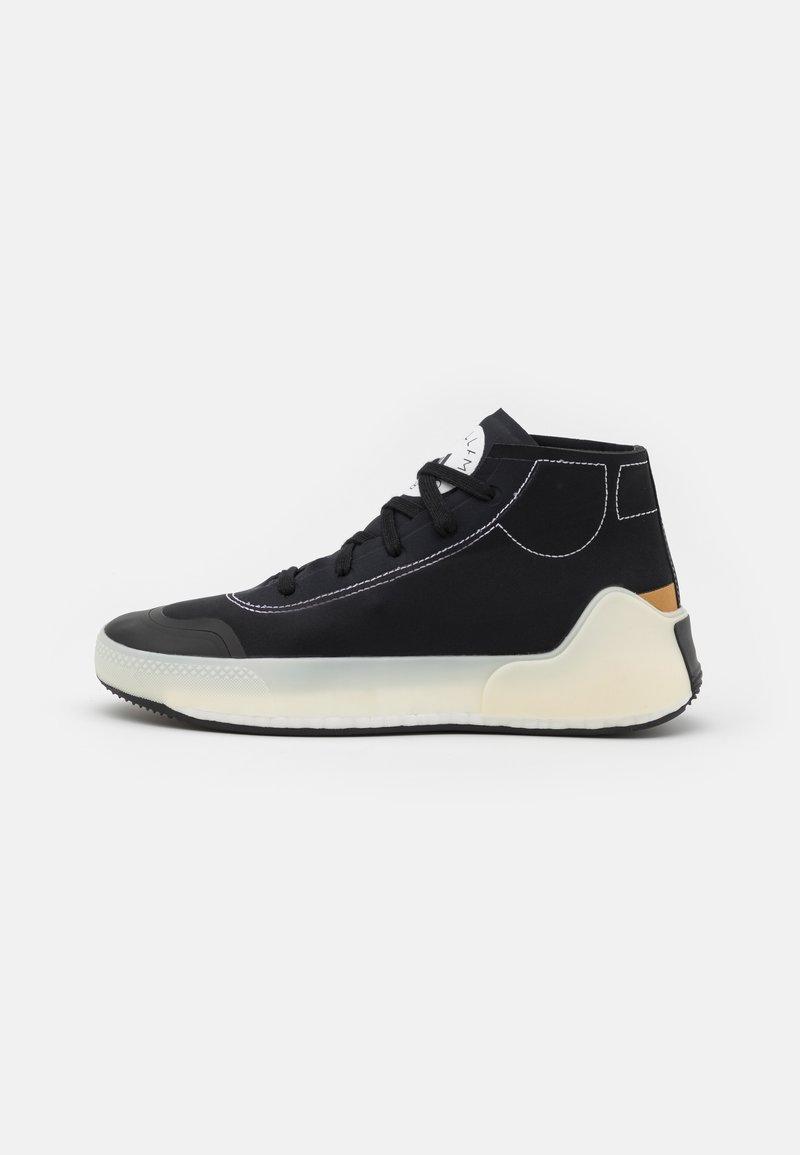 adidas by Stella McCartney - ASMC TREINO MID - Sportovní boty - core black/cloud white/offwhite