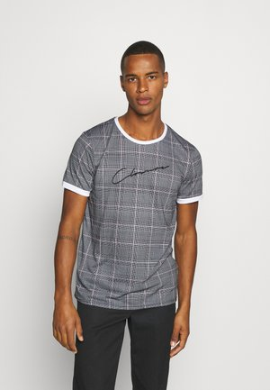 CHECKED SCRIPT TEES - T-shirt con stampa - pink