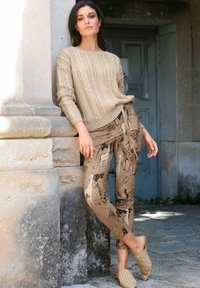 Alba Moda - Trousers - beige,schwarz - 3