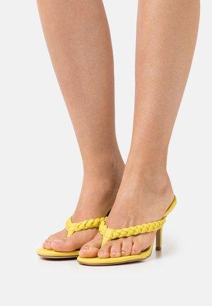 IMOGEN - T-bar sandals - yellow