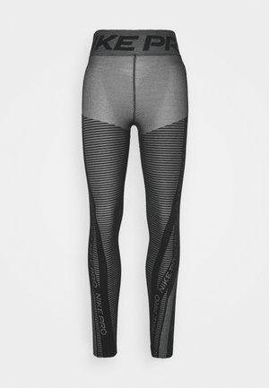 Legging - black/white/metallic silver