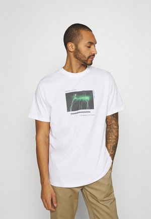 FRONT BACK GRAPHIC OVERSIZED UNISEX - T-shirt print - white
