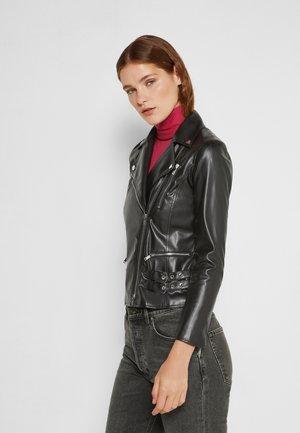 DONATA - Faux leather jacket - nero