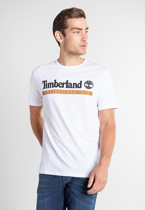 T-shirt z nadrukiem - white-wheat boot