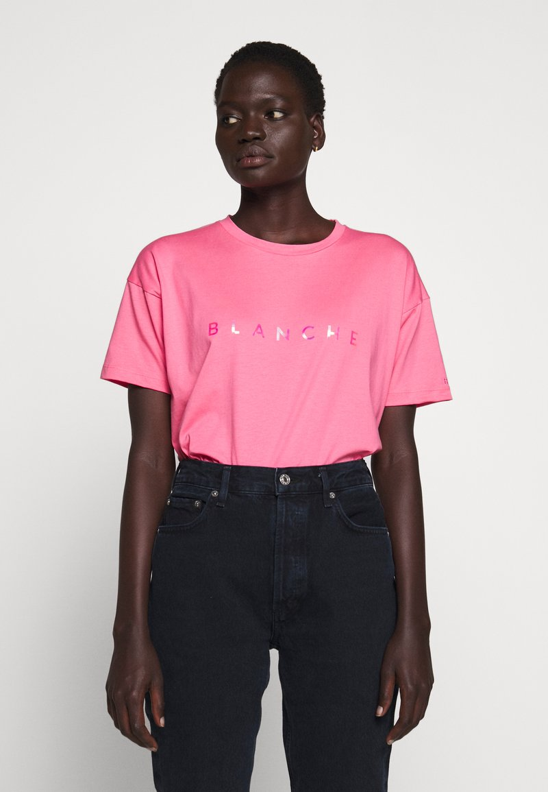 BLANCHE - MAIN HOLOGRAM - T-shirt imprimé - think pink
