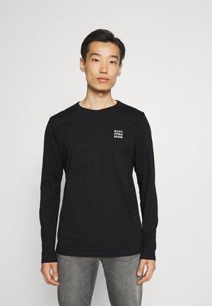 LONG SLEEVE SMALL LOGO PRINT - Long sleeved top - black