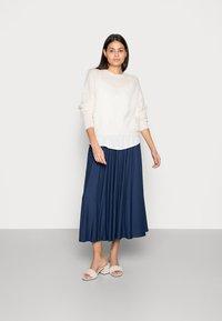 Esprit - SKIRT - A-line skirt - dark blue - 1